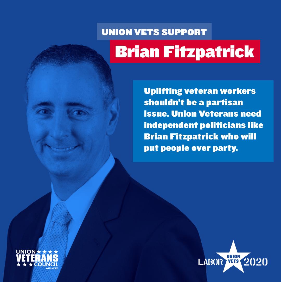 Union Veterans Support Rep. Brian Fitzpatrick